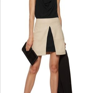 Alice + Olivia Layered Suede Skirt